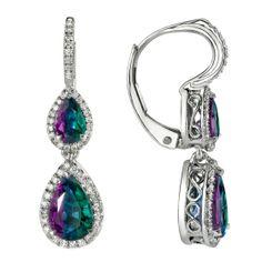 Omi Prive: Alexandrite and Diamond Earrings Style: EC1000-ALPE
