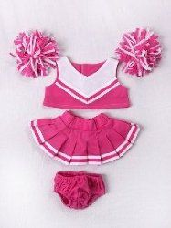 """Pink & White Cheerleader Uniform Outfit Clothing Fits Most 8""""-10"""" Most Webkinz, Shining Star And 8""""-10"""" Make Your Own Stuffed Animals And Build-A-Bear"""