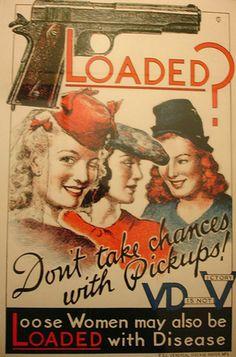 40 Hilarious Vintage STD Propaganda Posters From World War II