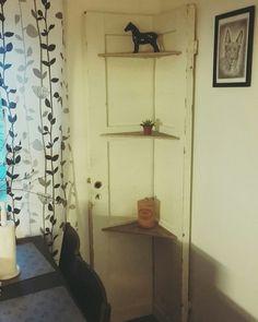 Old door shelves.