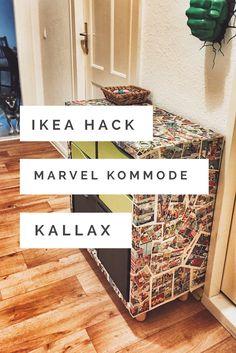 Ikea Hack - wie wäre es mit einer coolen Comic Kommode? Mein Kallax erstrahlt im Marvel Look und mit diesem DIY wird auch deine Kommode zu deinem persönlichen Upcycling Projekt.