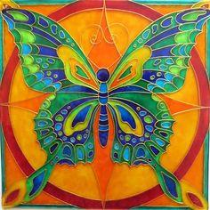 Motýl - Autorská vitráž