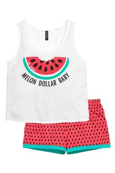 Pijama de camiseta y pantalón | H&M                                                                                                                                                                                 Más