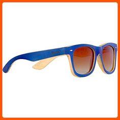 WOODIES Navy Full Bamboo Wood Sunglasses - Sunglasses (*Amazon Partner-Link)