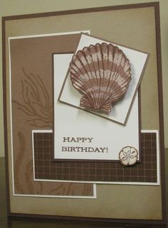 SC280 FLLCMAY10 Brown Seashells by mnfroggie - Cards and Paper Crafts at Splitcoaststampers