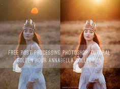 Free Post Procesing Photoshop Tutorial Annabella PS Actions Golden Hour Collection I Sale I Friday Freebie