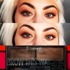 "Lauren Ashleyy on Instagram: ""#platinum #hair #bold #brows #featuring @rimmellondonus Brow This Way brow sculpting kit in shade 002 medium brown #platinumblonde #platinumhair #boldbrows #mua #motd #makeup #makeupartist #makeuplover #makeupjunkie #makeupaddict #rimmel #selfie #instaglam"""