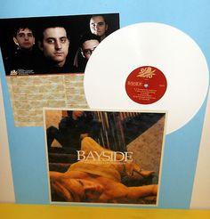 BAYSIDE sirens and condolences Lp Record WHITE Vinyl with lyrics insert