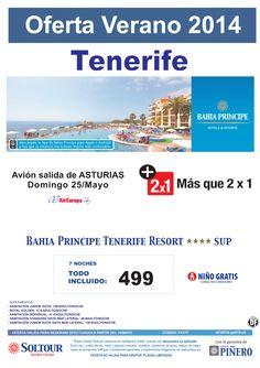 TENERIFE + Que 2x1 Bahia Principe Tenerife Resort, salida 25 Mayo desde Asturias ultimo minuto - http://zocotours.com/tenerife-que-2x1-bahia-principe-tenerife-resort-salida-25-mayo-desde-asturias-ultimo-minuto/