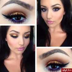 make up gold and purple All Things Beauty, Beauty Make Up, My Beauty, Beauty Hacks, Hair Beauty, Makeup Trends, Makeup Inspo, Makeup Inspiration, Makeup Tips