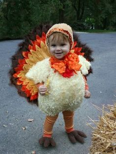 """""""Funny Thanksgiving Moment"""" - cute for a Halloween costume. Cute Costumes, Baby Costumes, Halloween Costumes, Baby Turkey Costume, Costume Ideas, Awesome Costumes, Creative Costumes, Toddler Costumes, Christmas Costumes"""