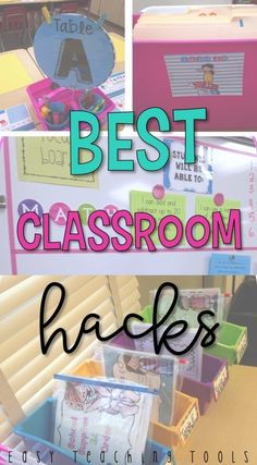 I love classroom hacks to help with management and organization. I want to share some of my classroom hacks that you can use tomorrow in your classroom. Classroom Hacks, Classroom Organisation, Teacher Organization, Classroom Setup, Teacher Hacks, Future Classroom, Classroom Management, Teacher Stuff, Organization Hacks