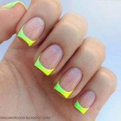 Neon Green French Tip Nails Pictures, Photos, and Images for ...