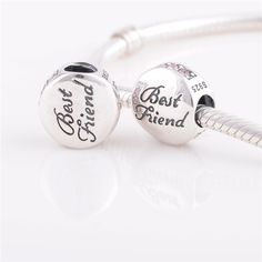 X091C silver charms for best friend