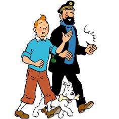 'Tintin and Captain Haddock' Sticker by red-rawlo Comic Book Characters, Comic Character, Character Design, Fictional Characters, Tintin Costume, Haddock Tintin, Tin Tin Cartoon, Captain Haddock, Comics Und Cartoons