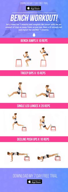 Free Bench Workout! | Kayla Itsines | Bloglovin'