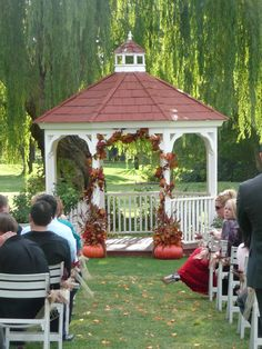 Fall colors added to the Gazebo