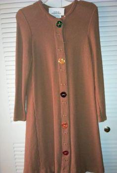 Vintage Steve Fabrikant for Bergdorf Goodman Brown Wool Dress Petite bid starts at $29.99
