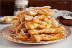 Faworki z mascarpone - I Love Bake Onion Rings, Apple Pie, Sweet Recipes, Sweet Tooth, Food And Drink, Baking, Ethnic Recipes, Cakes, Per Diem