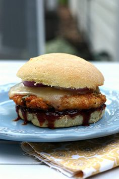 BBQ Chicken Burgers - elly says opa!