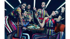 Models: Adriana Lima, Joan Smalls, Rosie Huntington-Whiteley, Isabeli Fontana, and Crista Cober Photographers: Mario Sorrenti   - HarpersBAZAAR.com