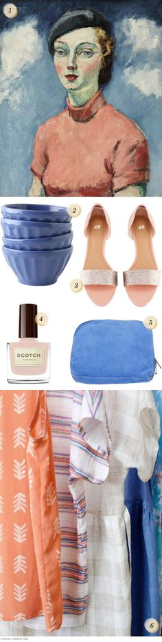 French blue and pretty pink