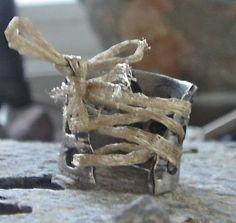 Material Girl ring in reclaimed fine silver by esmeraldadesigns