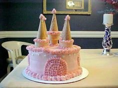 Birthday Cake Princess Castle Party Ideas 32 Ideas For 2019 Castle Birthday Cakes, Castle Party, Birthday Cake Girls, Birthday Parties, 4th Birthday, Easy Castle Cake, Disney Castle Cake, Frozen Castle Cake, Candy Castle
