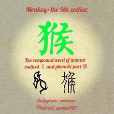 Unlike other 11 animals, the character forms are relatively rare, which indicates monkeys didn't get involved with people's life that much, so how they got themselves into this list remains mystery. Year Of The Monkey, Compound Words, Chinese Characters, Chinese Zodiac, Monkeys, Languages, Mystery, Places, Life