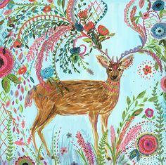 Deer in the Garden by Bari J