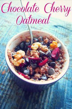Chocolate Cherry Oatmeal - Breakfast Under 300cal