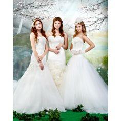A-line Strapless Bateau Neckline Tulle Wedding Dress. #Strapless, #Ballgown, #Empire, #Ivory, #Tulle, #Wedding, #Dress, #Bridal. Only $306.99