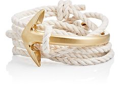 We Adore: The Half Anchor Cuff Wrap Bracelet from Miansai at Barneys New York