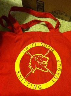 gryffindor knitting league bag