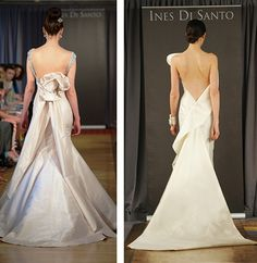 Low Back Wedding Gown by Ines Di Santo | Lulu's Event Design