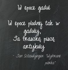 """Jan Sztaudynger """"Wybrane piórka""""  Epoka gaduł. Zwięzłość myśli i słowa. Dobre zarządzanie czasem. #artykuły #gaduła #czas #zarządzanie #Sztaudynger #cytaty"""