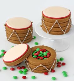 Christmas Drum Cookies