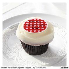 Heart's Valentine Cupcake Topper (Customizable)