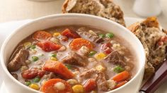 I WILL MAKE THIS TOMORROW:  Cook up something with stick-to-your-ribs substance when the weather turns cold: This beef and barley slow cooker stew, made easy with pantry basics and Green Giant frozen vegetables.