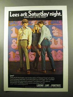 1969 Advertisement Lee Are Saturday Night Every Day Week Leens Jeans Mens Fashions Slacks Pa Lee Jeans, Nostalgic Images, Fashion Marketing, Vintage Jeans, Vintage Newspaper, Vintage Clothing, Boots For Sale, Fashion Pants, Mens Fashion
