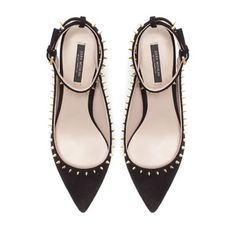STUDDED SLING BACK - High - heels - Shoes - Woman   ZARA United States