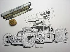 Slidin' N Ridin' #inktober #inktober2017 #sakurainktober #sketchbook #sprint #car #sprintcar #hotrod #turbo #supercharged #turbocharged #iamthespeedhunter #speedhunters #v8 #americanmuscle #dirt #track #hoonigan #racer #racecar #racing #hoosiertires