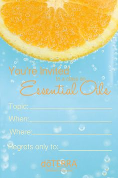 4x6 doTERRA class invitation INSTANT DOWNLOAD by MabelStreet