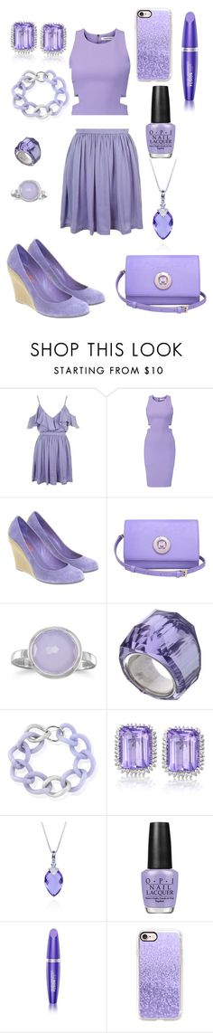 """""""purple pal"""" by oliver27 on Polyvore featuring Topshop, Elizabeth and James, Michael Kors, Metrocity, BillyTheTree, Swarovski, Maiko Nagayama, Belk & Co., OPI and Max Factor"""