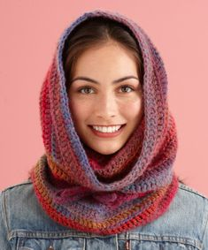 Cozy Cowl Hood with pattern.