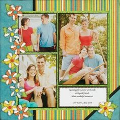 scrapbooking layouts, scrapbook ideas scrapbook ~ everyday stuff ~ - Scrapbook.com colorful and cute layout #ScrapbookFAQs