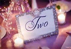 table numbers with rhinestones - Bing Images