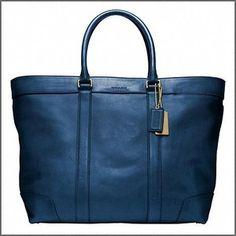 Interesting blue bag