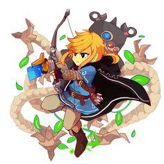 Link and guardian | Legend of Zelda Breath of the Wild
