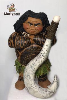 Maui (moana) gumpaste / fondant cake topper